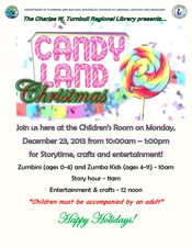 Turnbull Library Candyland 2013 flyer thumbnail